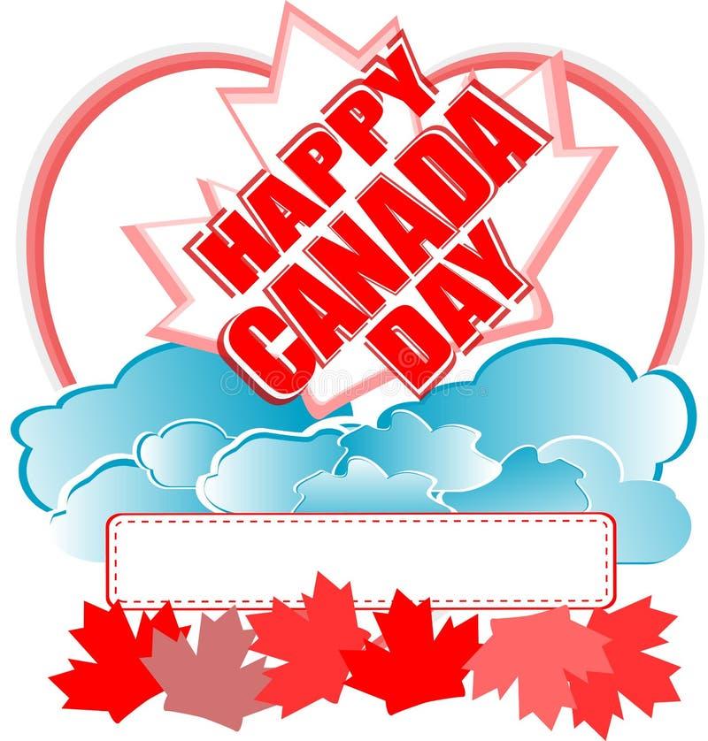 lycklig vektor för Kanada kortdag vektor illustrationer