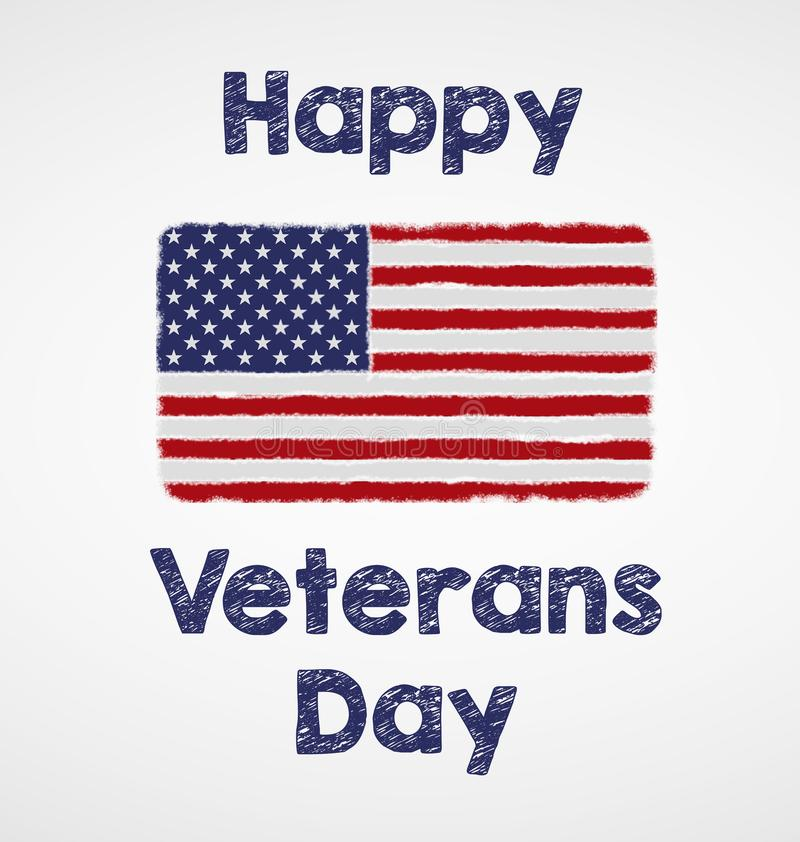 Lycklig veterandag stock illustrationer