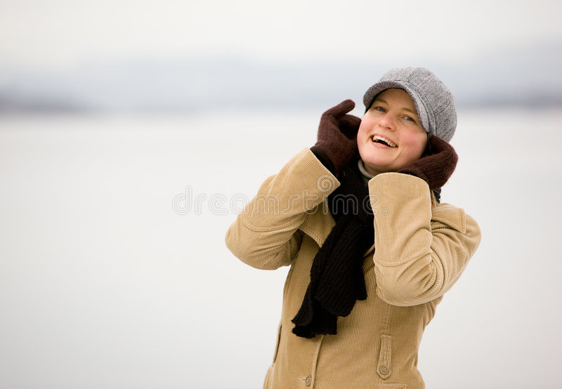 lycklig vinter arkivbilder