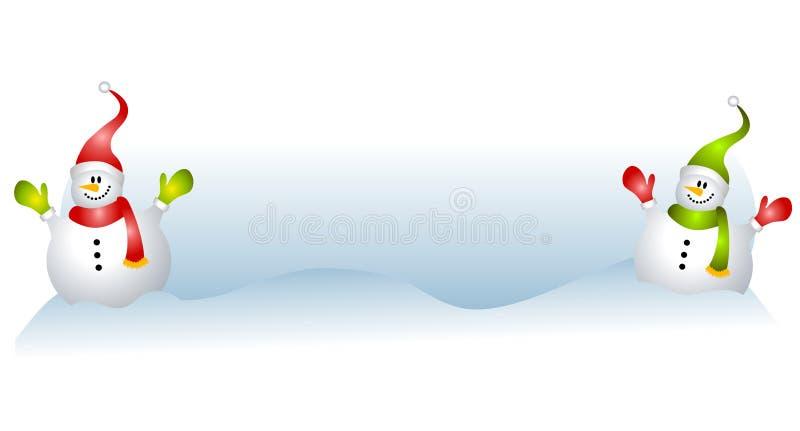 lycklig xmas för etikettlogosnowman vektor illustrationer