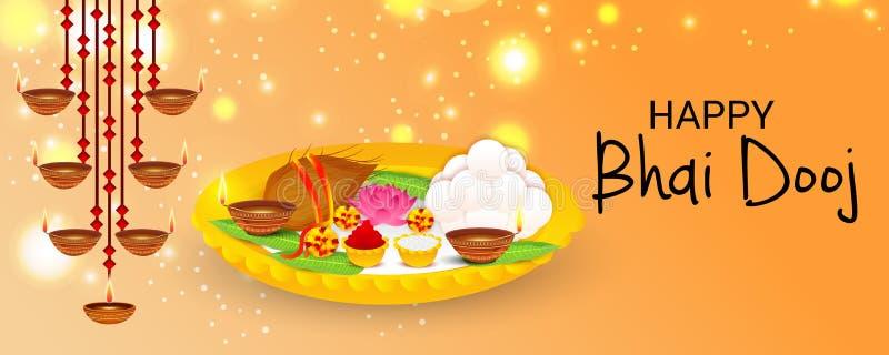Lyckliga Bhai Dooj royaltyfri illustrationer