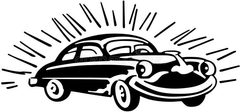 Lyckliga Buick royaltyfri illustrationer