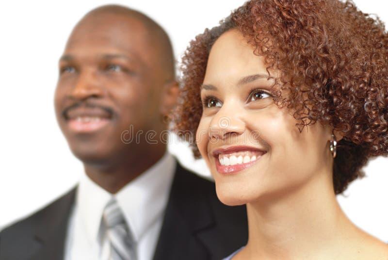 lyckliga businesspeople royaltyfri fotografi
