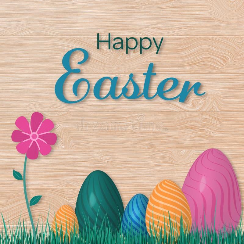 lyckliga easter ägg stock illustrationer