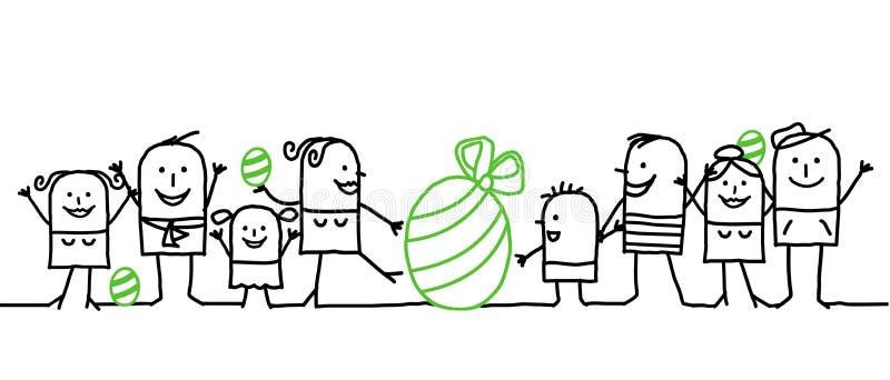 lyckliga easter vektor illustrationer
