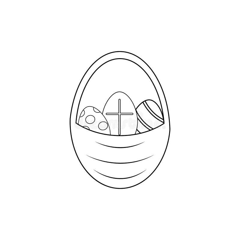 Lyckliga easter av symbolen de easter äggen royaltyfri illustrationer