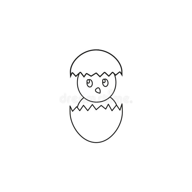 Lyckliga easter en äggsymbol av höna royaltyfri illustrationer