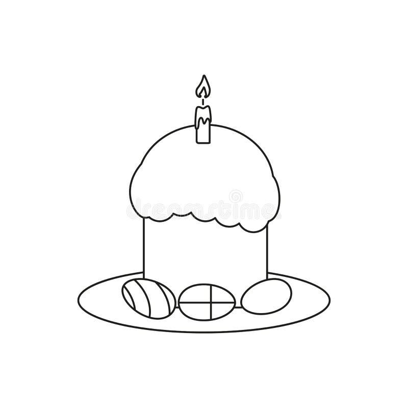 Lyckliga easter en äggsymbol ferien royaltyfri illustrationer