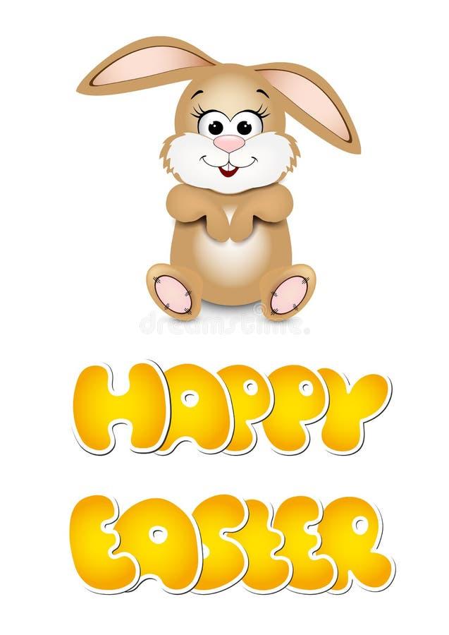 Lyckliga easter kort med kaninen stock illustrationer