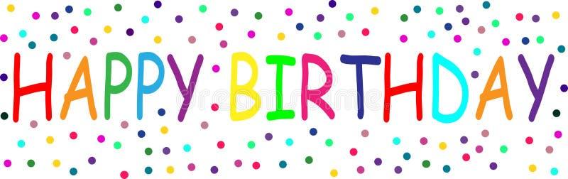 Lyckliga färgrika fläckar för födelsedagGif Wİth vektor illustrationer