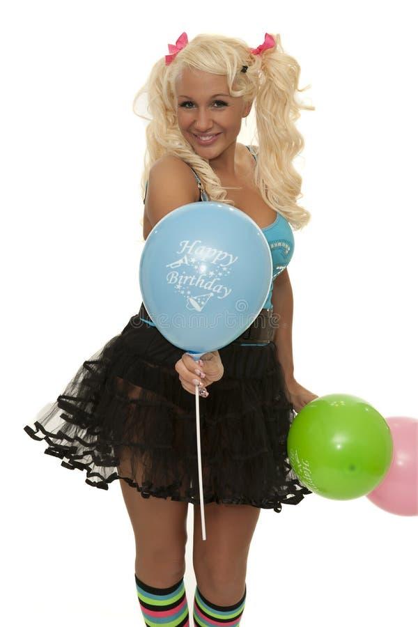 Lyckliga födelsedagballons royaltyfria bilder