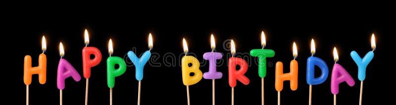 Lyckliga födelsedagstearinljus arkivfoto