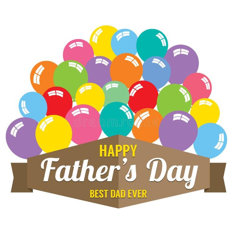 Lyckliga faders dag vektor illustrationer