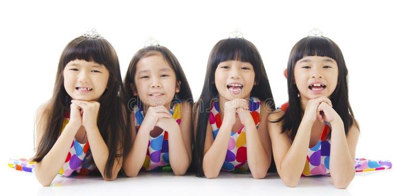lyckliga flickor royaltyfri fotografi