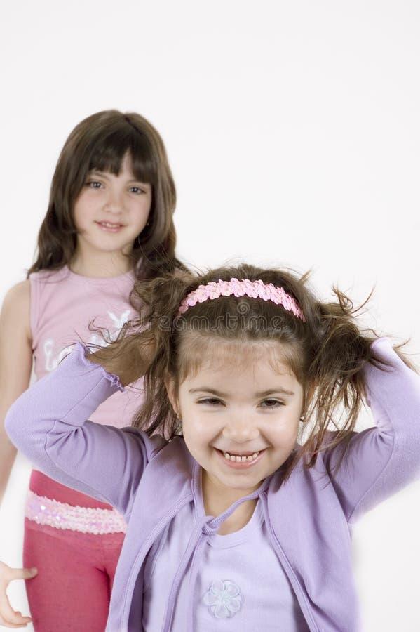 lyckliga flickor royaltyfri foto