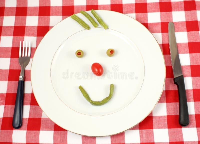 lyckliga grönsaker arkivfoton