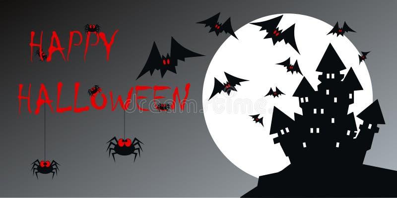 lyckliga halloween vektor illustrationer