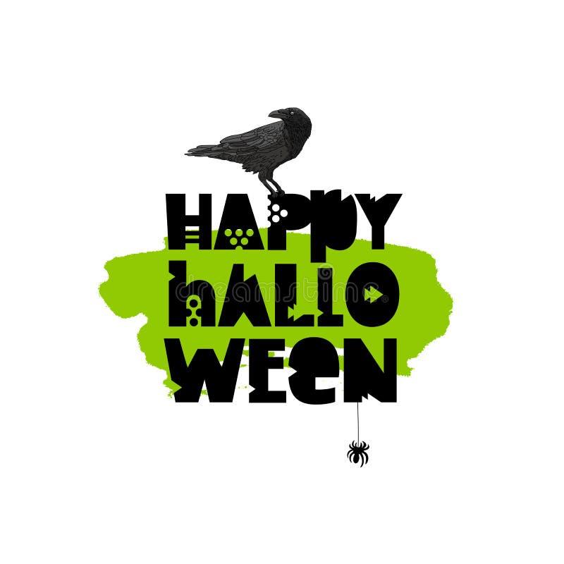 lyckliga halloween Feriegåvakort vektor illustrationer
