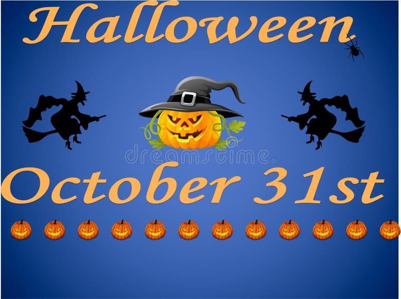 Lyckliga halloween på Oktober 31st royaltyfri fotografi