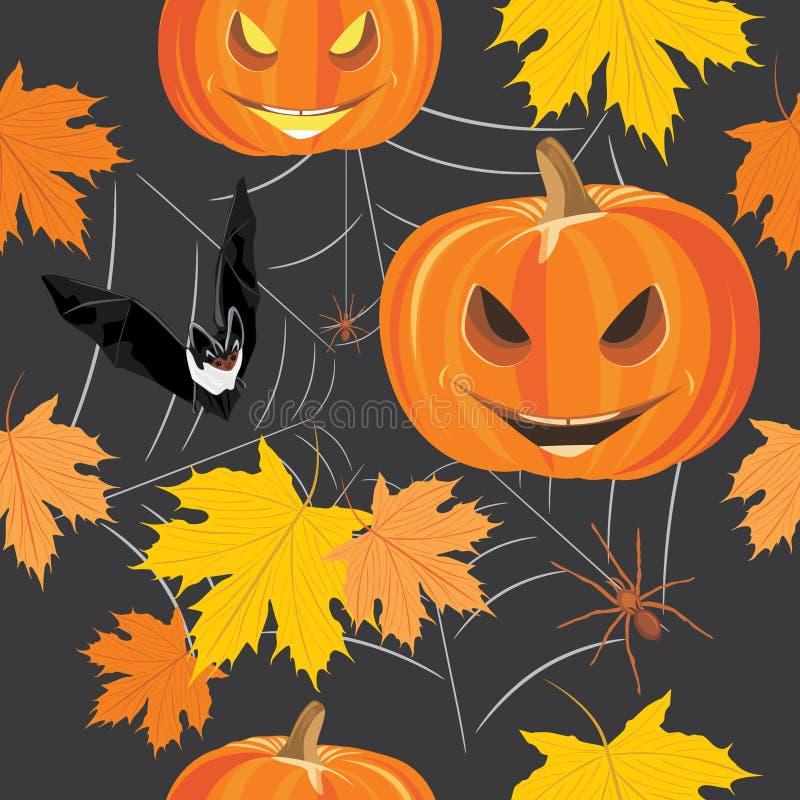 lyckliga halloween Sömlös bakgrund för design stock illustrationer