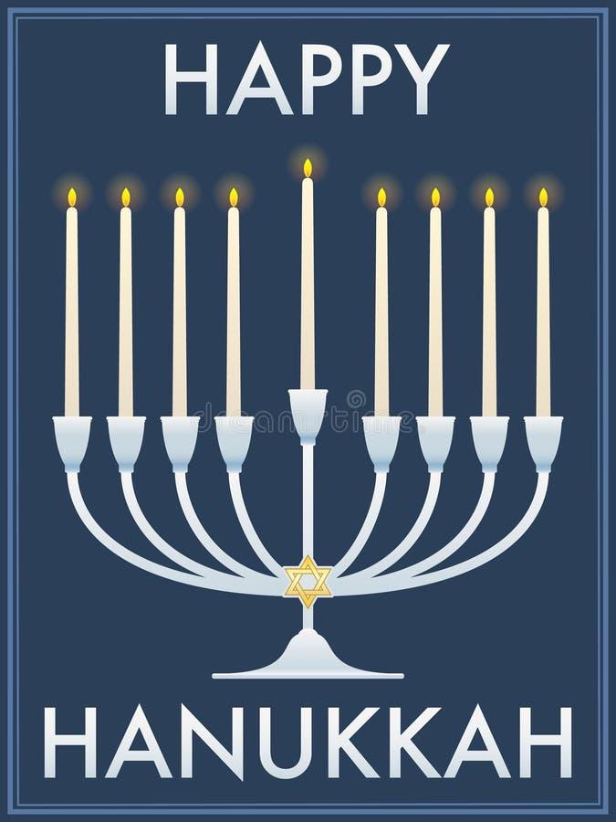 lyckliga hanukkah stock illustrationer