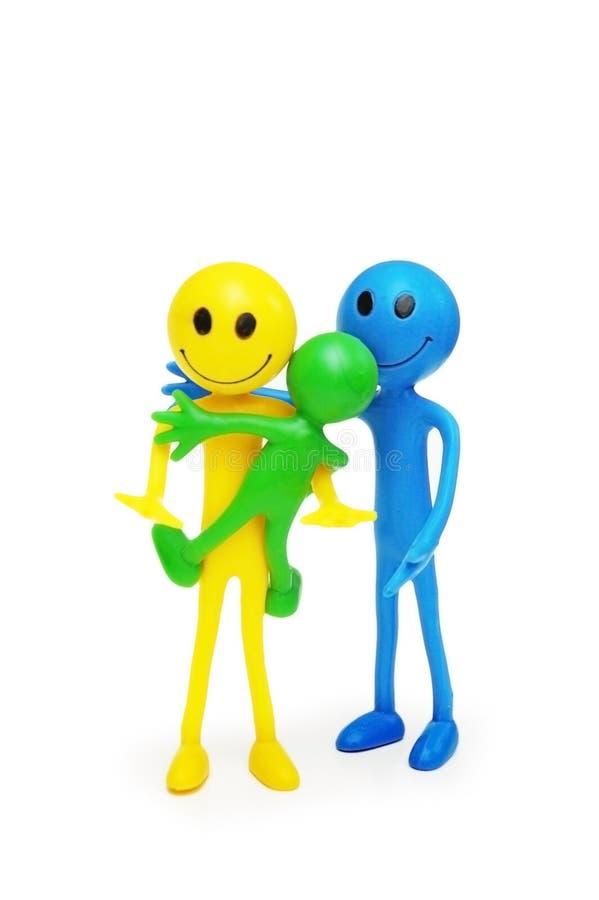 lyckliga isolerade smilies för familj arkivfoton