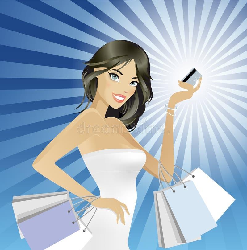 lyckliga köp stock illustrationer