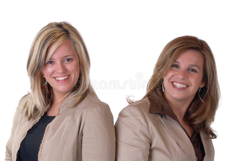 lyckliga kvinnor royaltyfria bilder