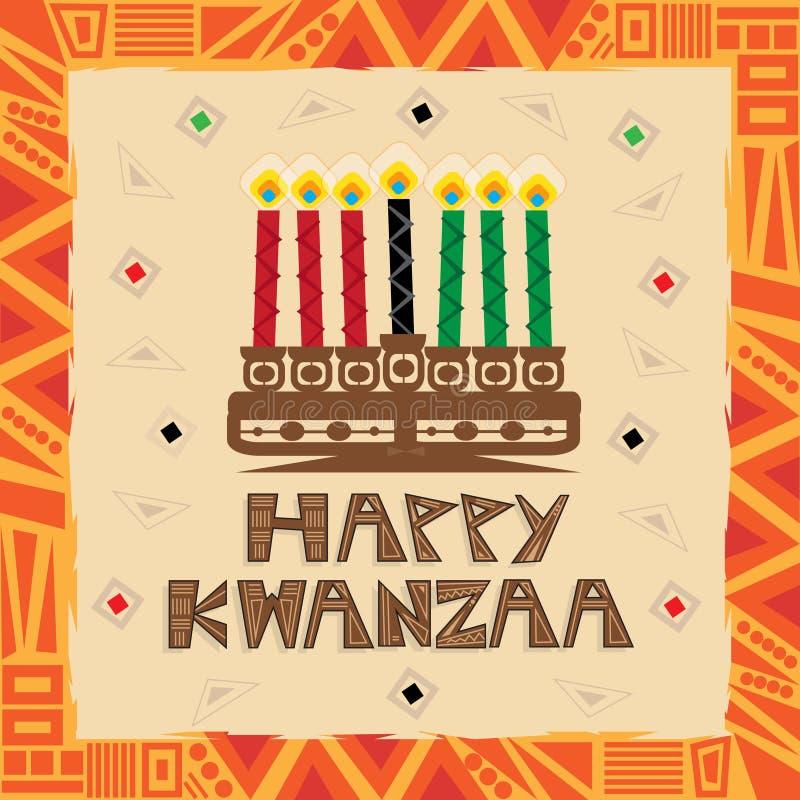 lyckliga kwanzaa stock illustrationer