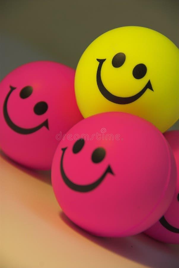 lyckliga leenden arkivbild