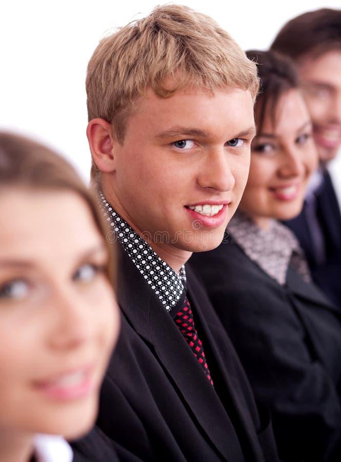 lyckliga män för affärskollega arkivbild