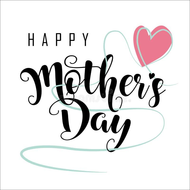 lyckliga mödrar för dag stock illustrationer
