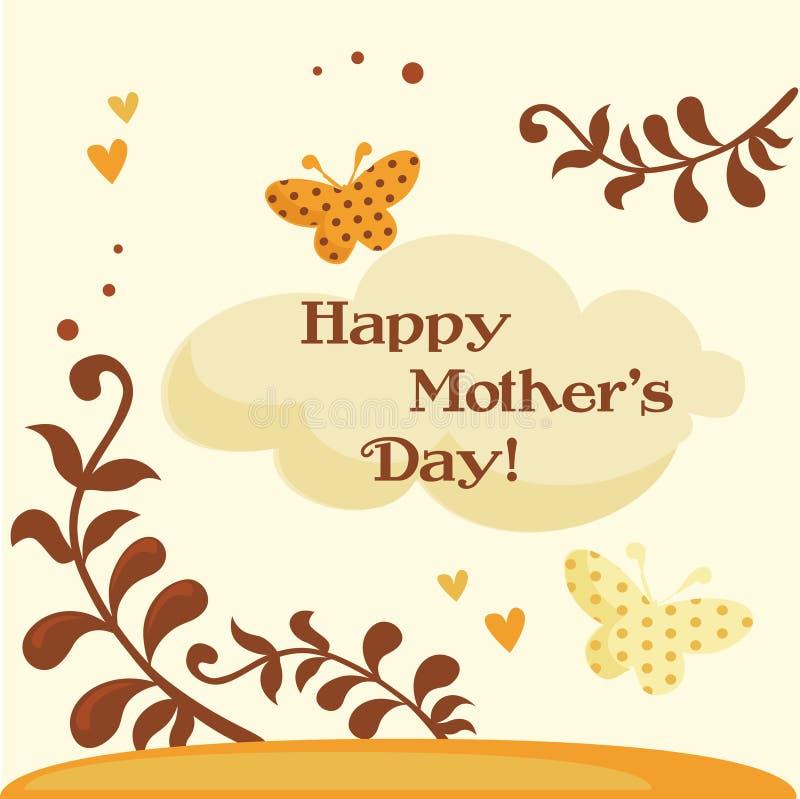 lyckliga mödrar för kortdag stock illustrationer