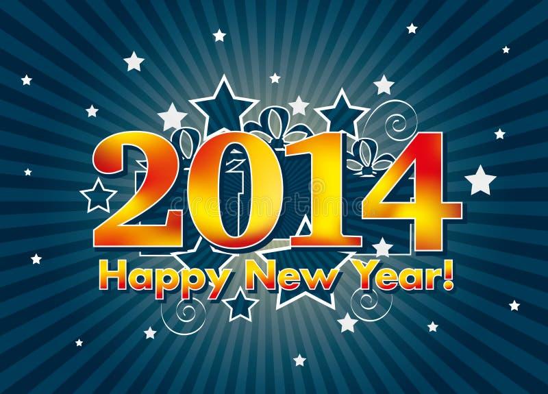 2014 lyckliga nya år vektor illustrationer