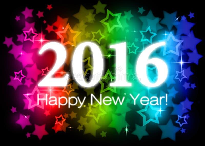 2016 lyckliga nya år stock illustrationer