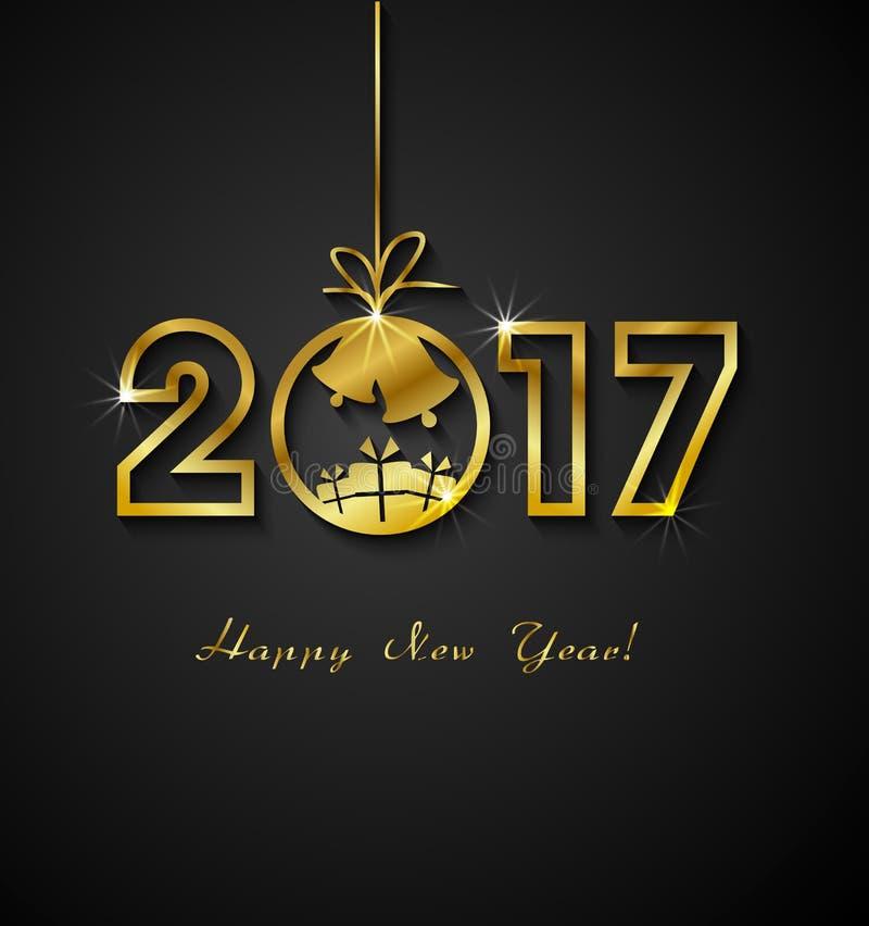 2017 lyckliga nya år stock illustrationer