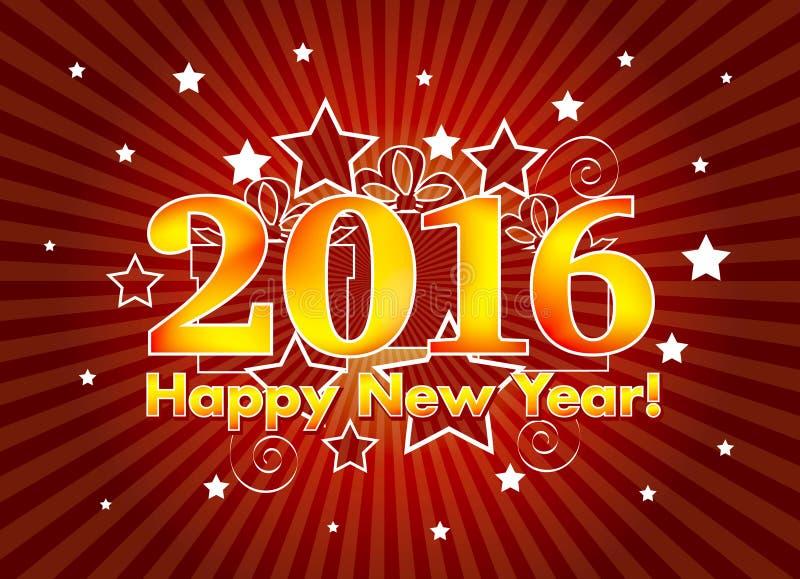 2016 lyckliga nya år royaltyfri illustrationer