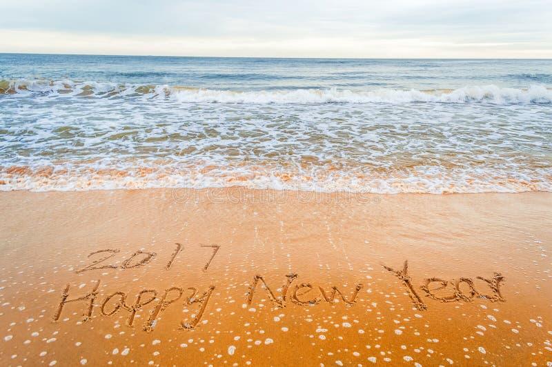 2017 lyckliga nya år fotografering för bildbyråer
