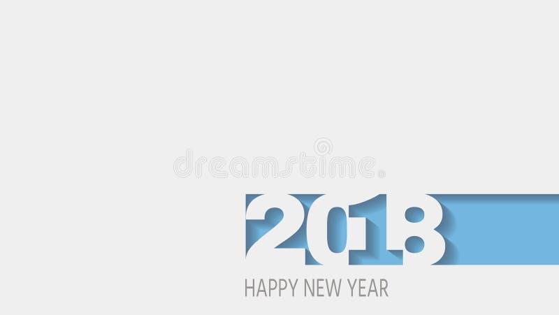 2018 lyckliga nya år abstrakt design 3d, vektorvitbok också vektor för coreldrawillustration vektor illustrationer