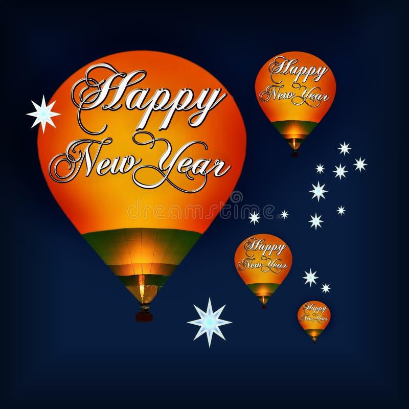 Lyckliga nya år beröm stock illustrationer