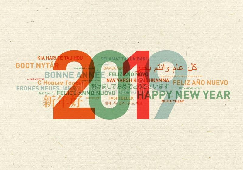 2019 lyckliga nya år från världen royaltyfri illustrationer