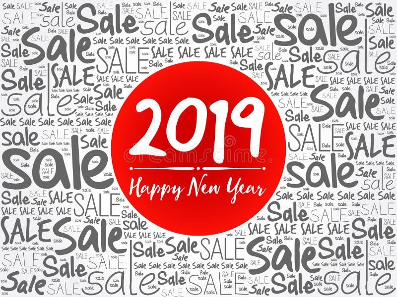 2019 lyckliga nya år Sale julbakgrund vektor illustrationer