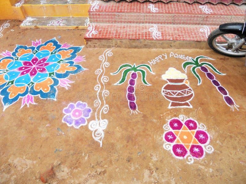 Lyckliga Pongal royaltyfri fotografi