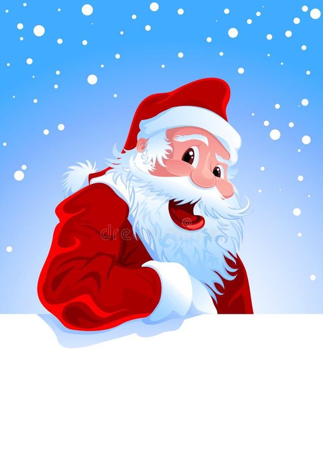 lyckliga santa stock illustrationer