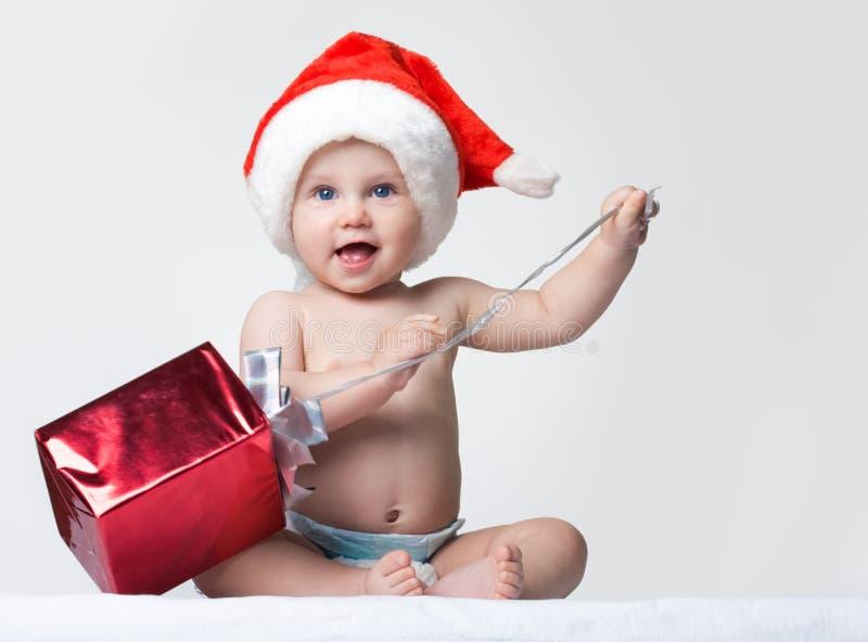 lyckliga santa arkivfoto