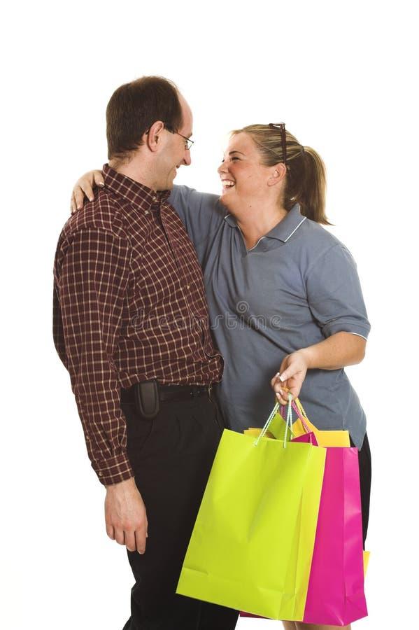 lyckliga shoppare royaltyfri bild