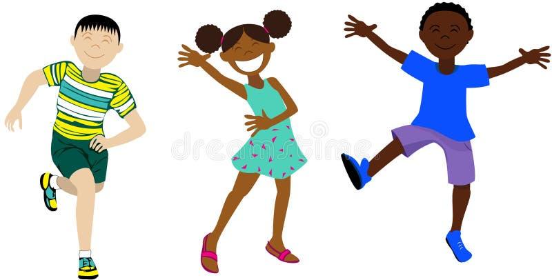 Download 2 lyckliga ungar vektor illustrationer. Illustration av folk - 106829318