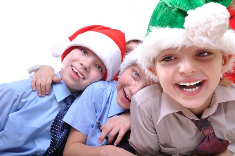 lyckliga ungar för jul royaltyfri fotografi