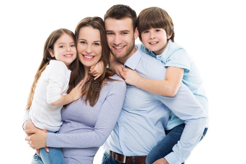 lyckliga ungar två för familj royaltyfria bilder
