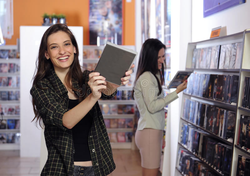 lyckliga uthyrnings- lagervideokvinnor fotografering för bildbyråer